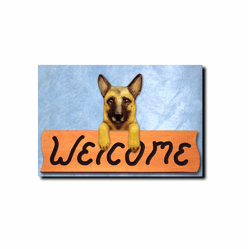 Belgian Malinois Welcome Sign