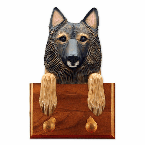 Belgian Turveren Walnut Dog Leash Holder