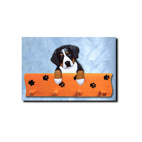 Bernese Mountain Dog Four-Peg Hang Up