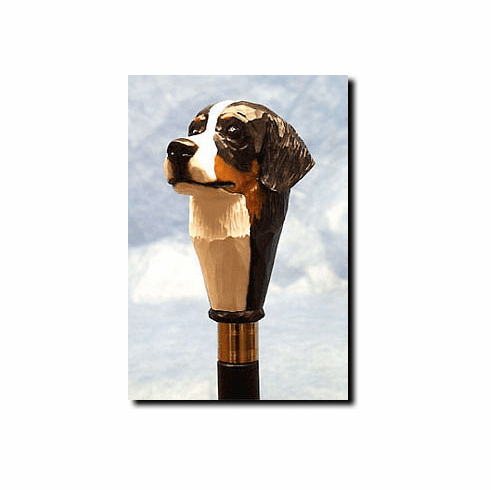 Bernese Mountain Dog Walking Stick, Hiking Staff