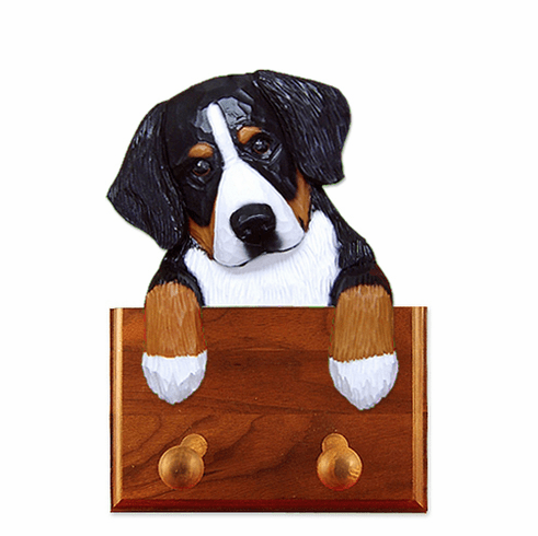 Bernese Mountain Dog Walnut Dog Leash Holder