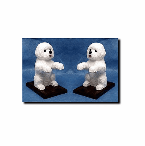 Bichon Frise Bookends