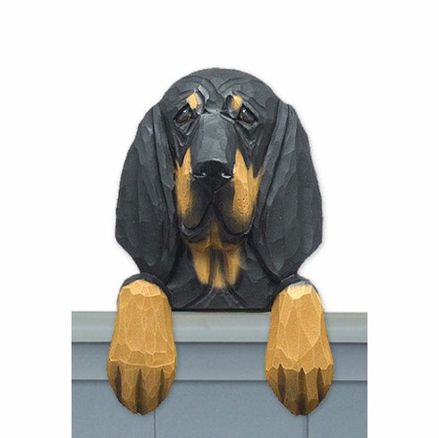 Black and Tan Coonhound Door Topper
