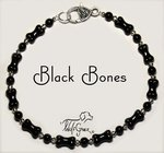 <b>Black Bones Necklace for Dogs <br>(Matching Human Necklace Available!)</b>