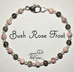 <b>Blush Rose Frost Necklace for Dogs <br>(Matching Human Necklace Available!)</b>