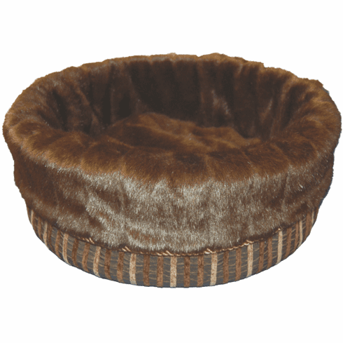 Bodacious Bucket™-Brown Stripe with Dark Brown Pelted Fur
