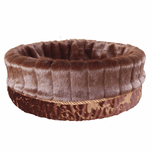 Bodacious Bucket™-Brown Velvet with Brown Pelted Fur