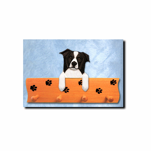Border Collie Dog Four-Peg Hang Up