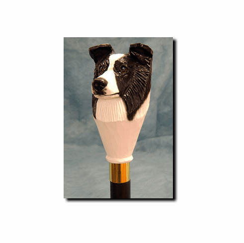 Border Collie Walking Stick, Hiking Staff