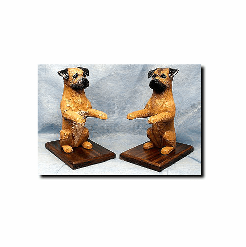 Border Terrier Bookends