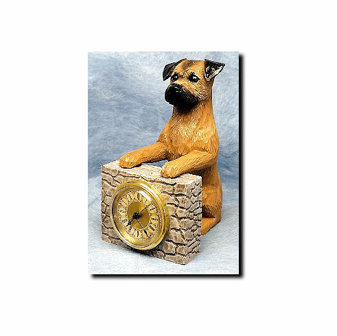 Border Terrier Mantle Clock