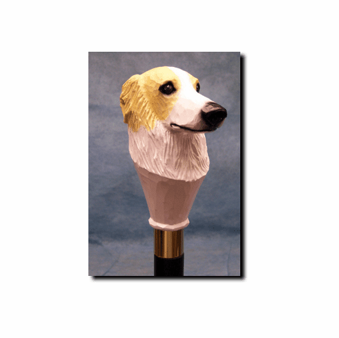 Borzoi Walking Stick, Hiking Staff