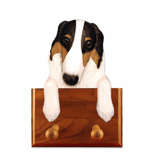 Borzoi Walnut Dog Leash Holder