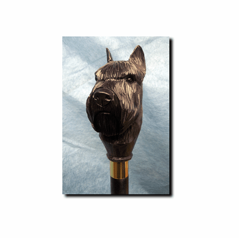 Bouvier Des Flandres Walking Stick, Hiking Staff