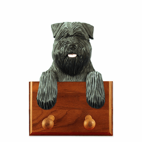 Bouvier Des Flandres Walnut Dog Leash Holder