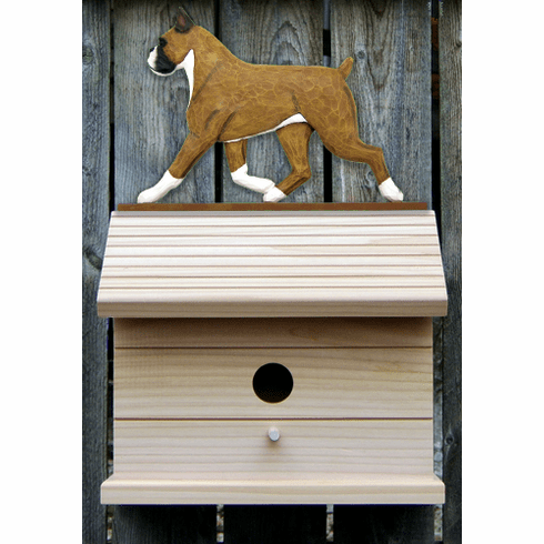 Boxer Bird House-Fawn