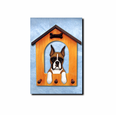 Boxer Dog House Leash Holder