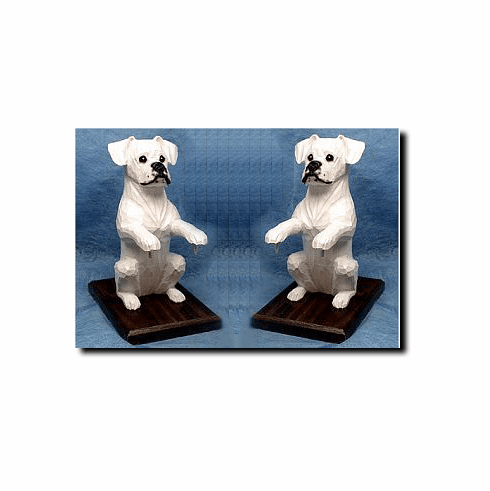 Boxer Dog Natural Ears Bookends