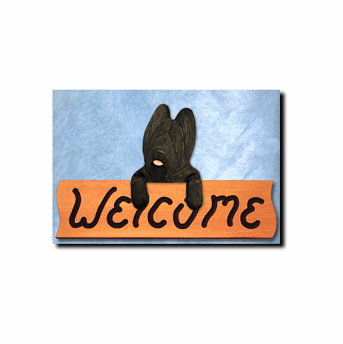 Briard Welcome Sign