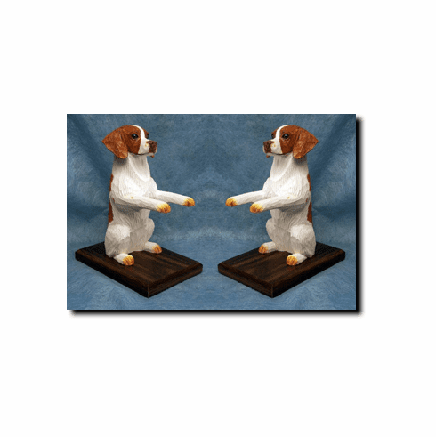 Brittany Spaniel Bookends
