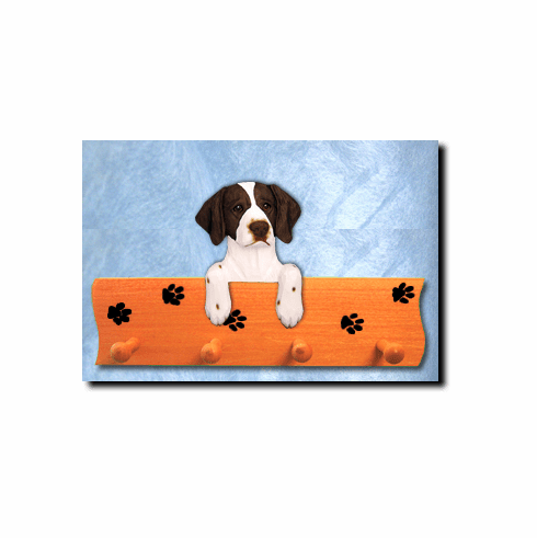 Brittany Spaniel Dog Four-Peg Hang Up