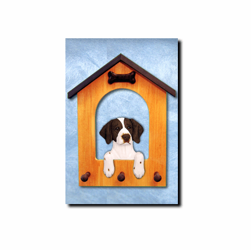 Brittany Spaniel Dog House Leash Holder