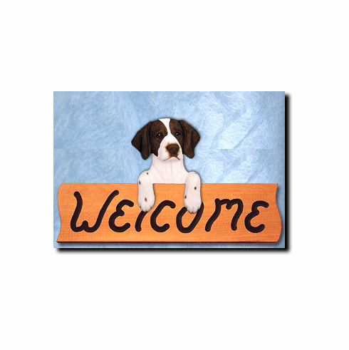 Brittany Spaniel Welcome Sign