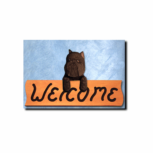 Brussels Griffon Welcome Sign