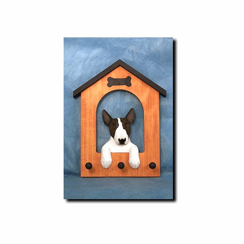 Bull Terrier Dog House Leash Holder