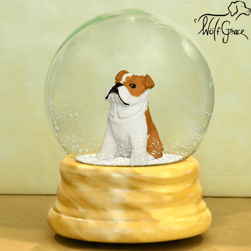 Bulldog Snow Globe, English