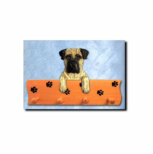 Bullmastiff Dog Four-Peg Hang Up