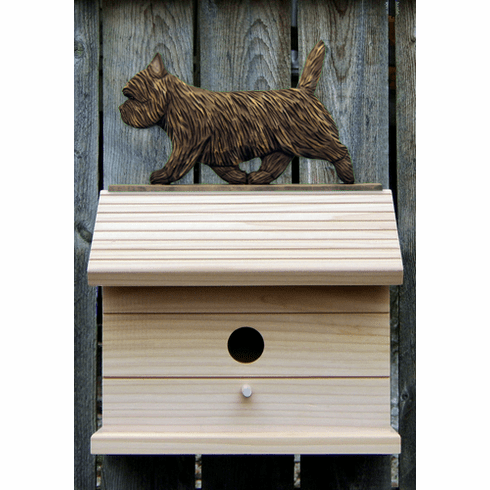 Cairn Terrier Bird House-Black Brindle