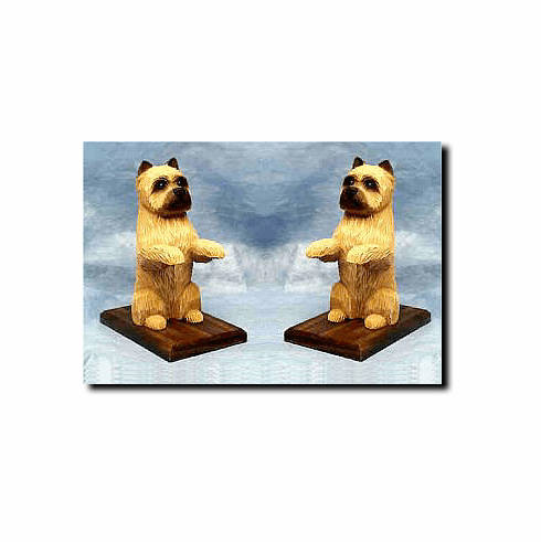 Cairn Terrier Bookends