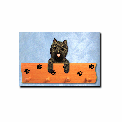 Cairn Terrier Dog Four-Peg Hang Up