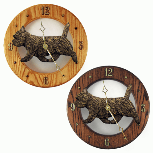 Cairn Terrier Wall Clock-Black Brindle
