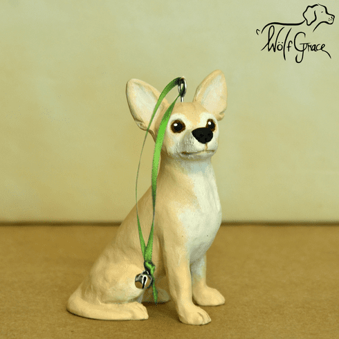 Chihuahua 3-Dimenional Christmas Ornament