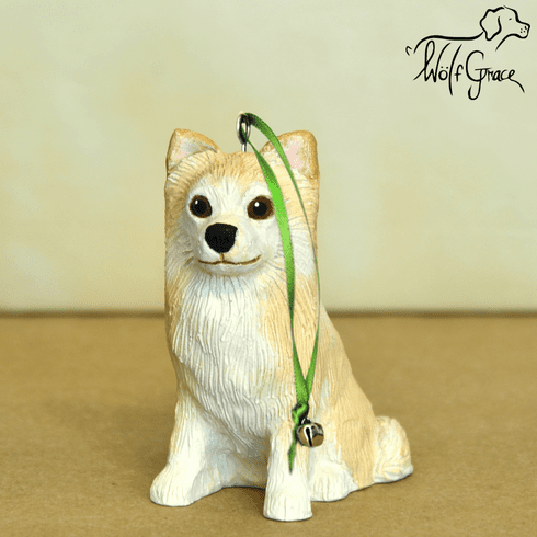 Chihuahua Long Hair 3-Dimenional Christmas Ornament
