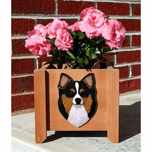 Chihuahua Long Hair Planter Box