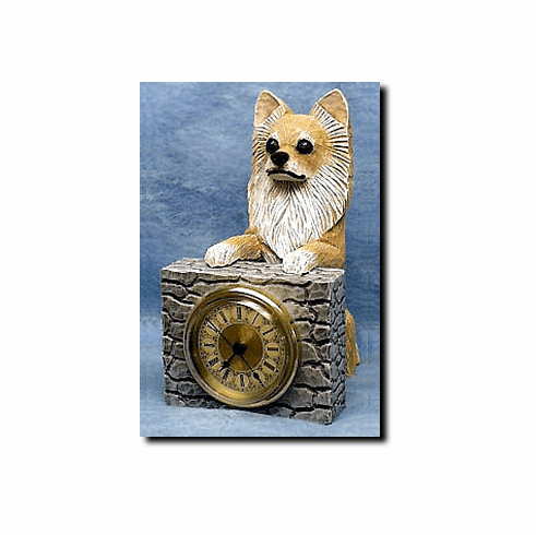 Chihuahua Longhair Mantle Clock