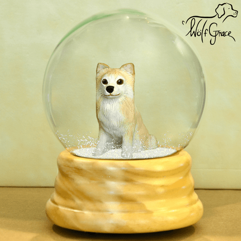 Chihuahua Snow Globe, Long Hair
