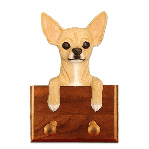 Chihuahua Walnut Dog Leash Holder