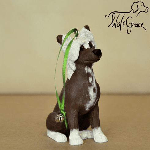Chinese Crested 3-Dimenional Christmas Ornament