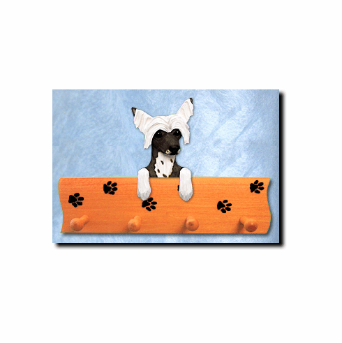 Chinese Crested Dog Four-Peg Hang Up