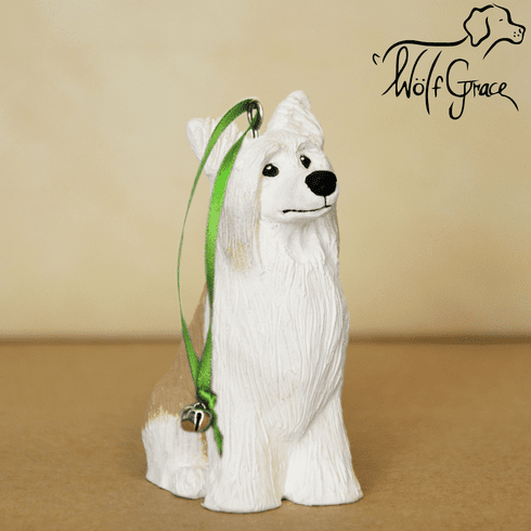 Chinese Crested Powder Puff Christmas Ornament