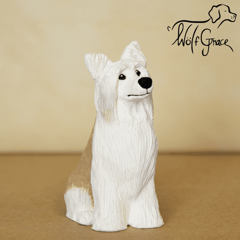 Chinese Crested Powder Puff Figurine