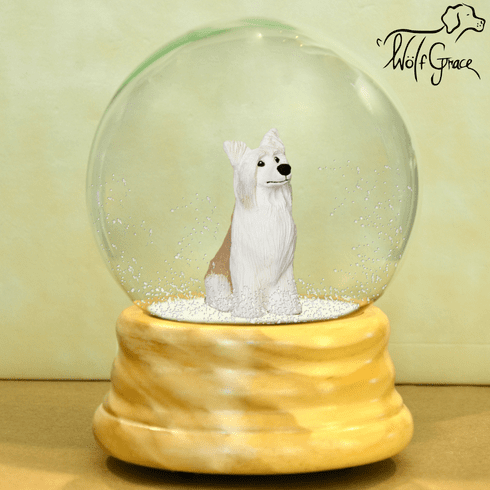 Chinese Crested Powder Puff Snow Globe