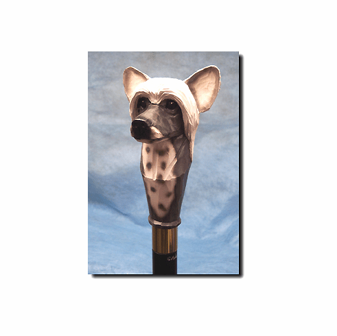 Chinese Crested Walking Stick, Hiking Staff