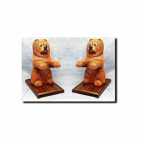 Chow Chow Bookends