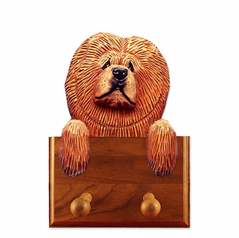 Chow Chow Walnut Dog Leash Holder