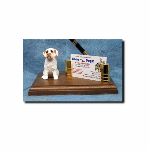 Clumber Spaniel Deluxe Desk Set